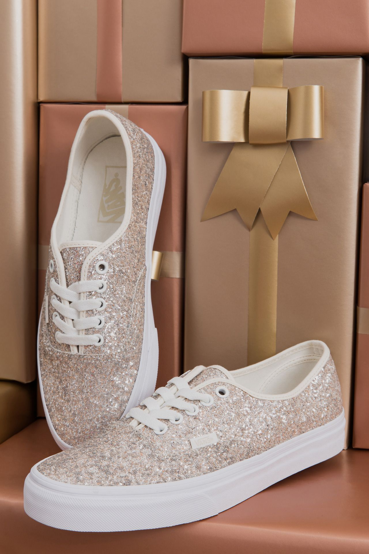 4751097d64 Holiday cheer   some Vans Girls sparkle! Shop the Chunky Glitter Authentic  and more at vans.com giftguide