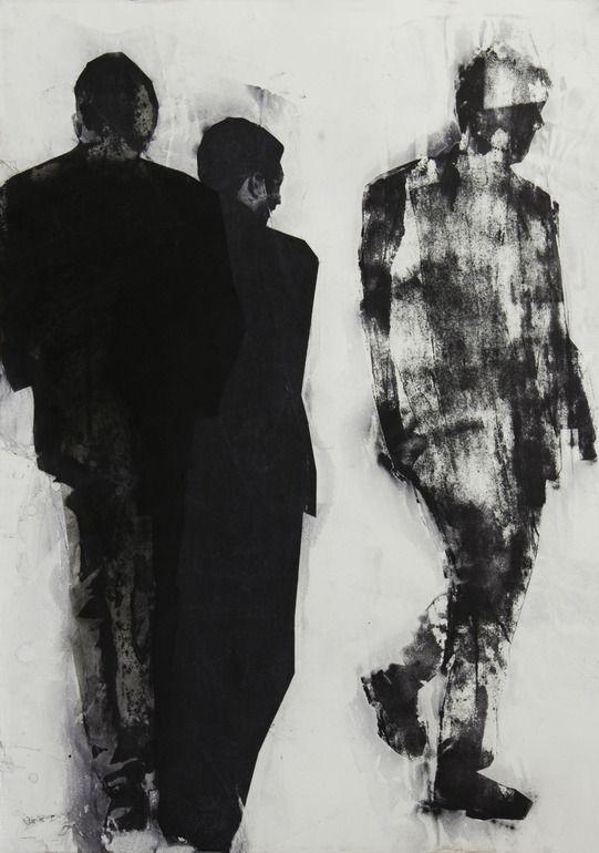"Saatchi Online Artist: Pawel Kwiatkowski; Monotype, Printmaking ""Martin Eden""                                                                                                                                                                                 More"