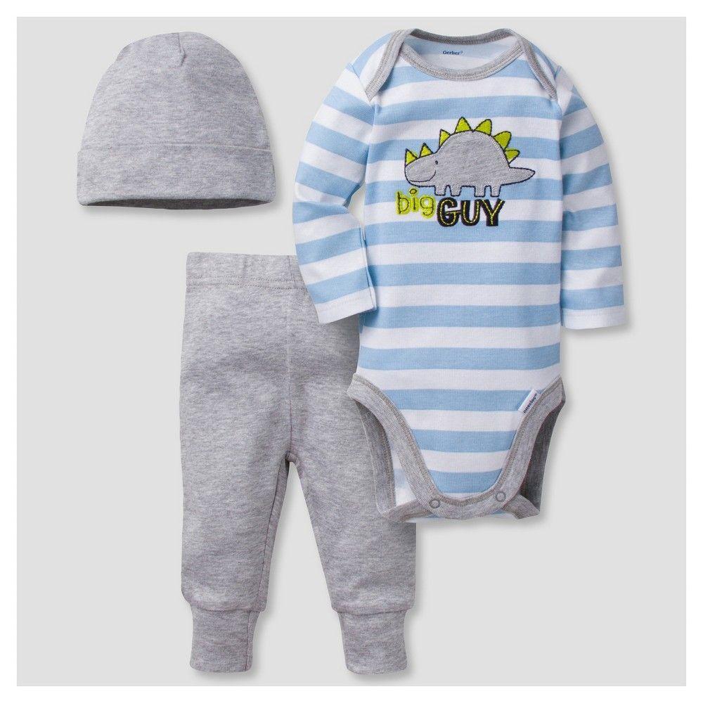 5dcb74c218c Baby Boys  3 Piece Long Sleeve Onesies Bodysuit