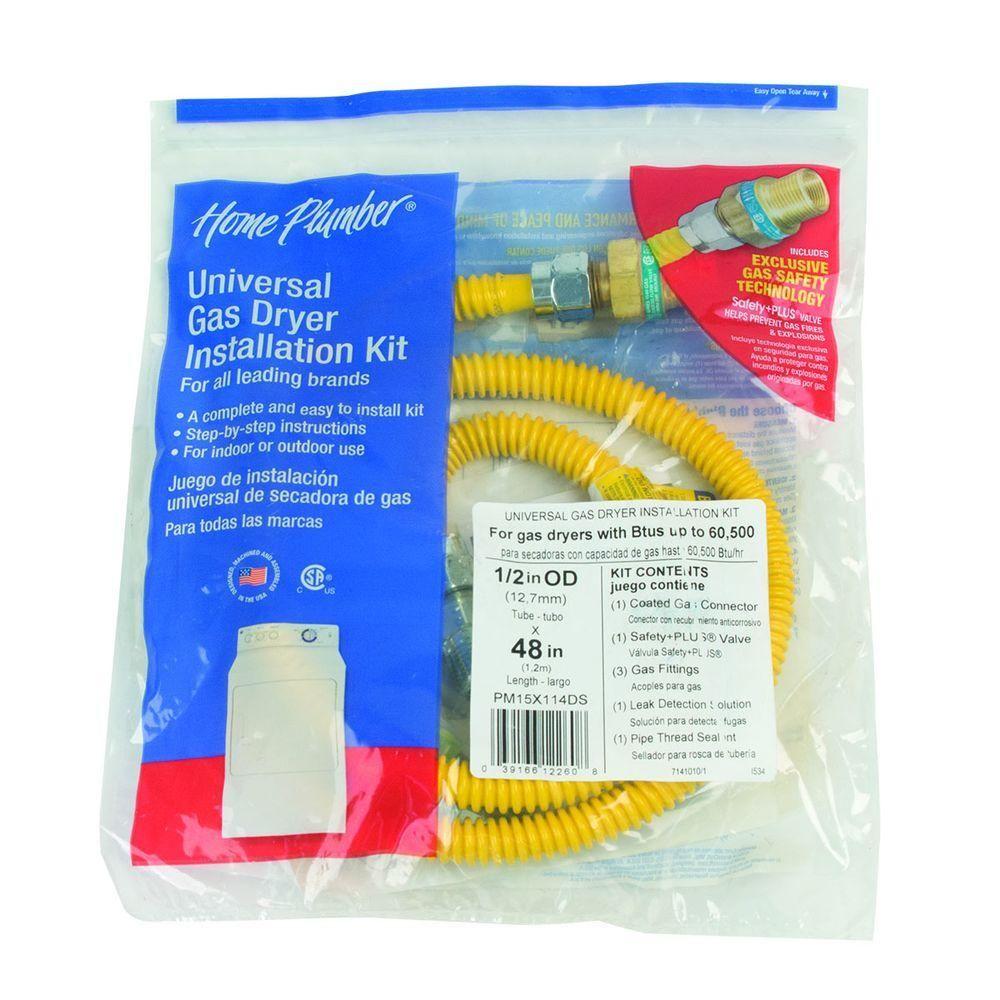 BrassCraft 4 ft. Gas Dryer Connector Kit with Auto Shut