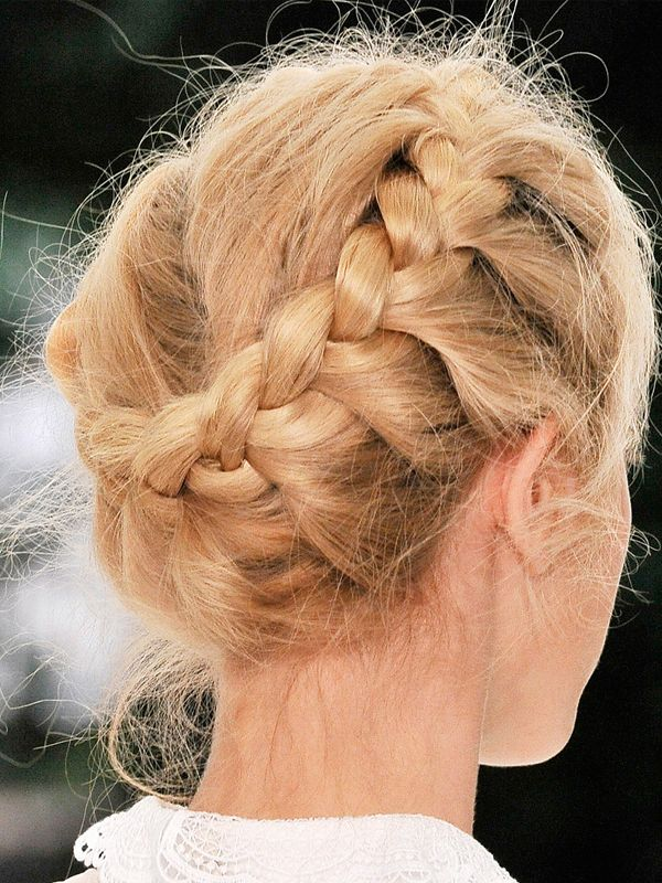 Romantic Hair Ideas- Opt for a soft braid to get the ultimate rustic vintage bridal look. #hair #wedding #bride #braid #romantic #romance #soft