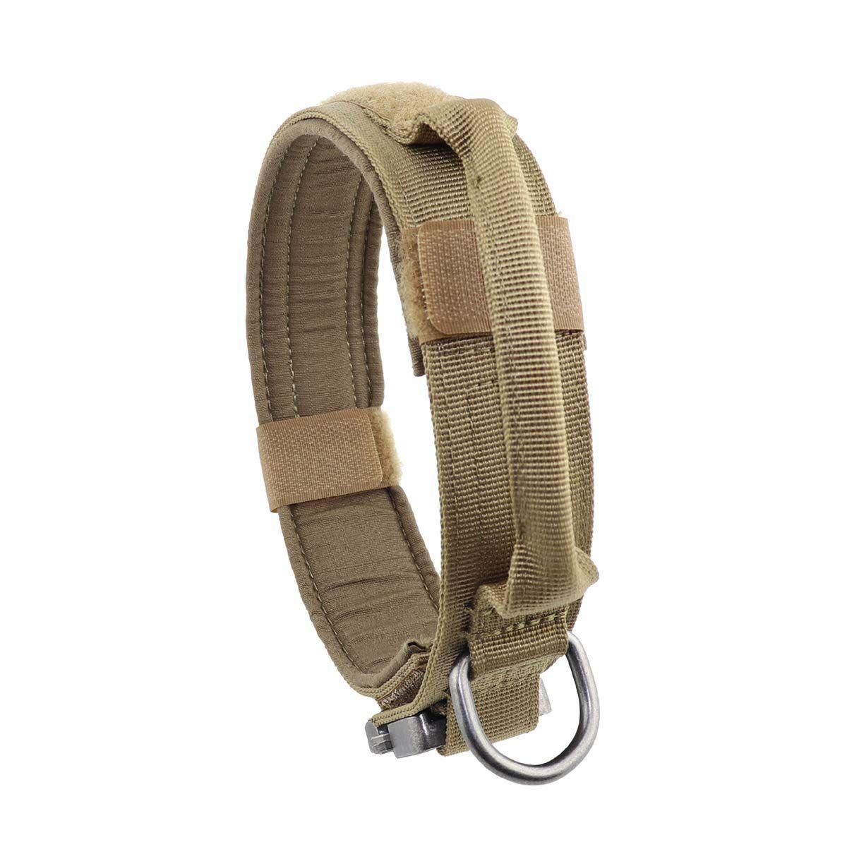 K9 Nylon Military Tactical Adjustable Dog Collar Pet Training Leash Metal Buckle