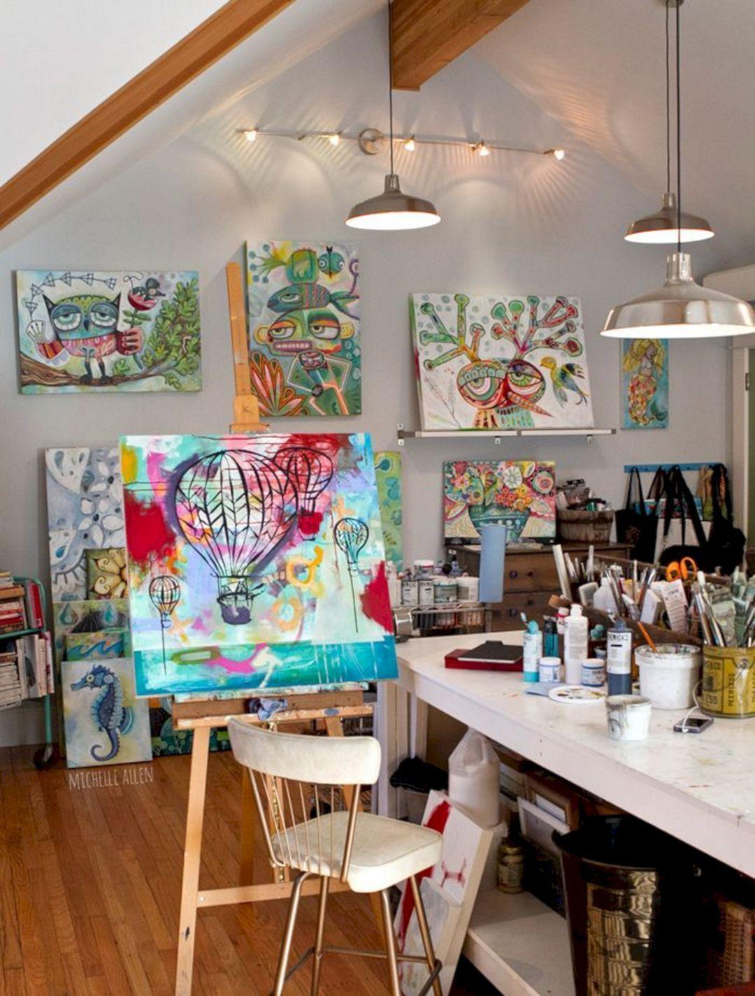 5 Stunning Art Studio Design Ideas For Small Spaces Freshouz Com Art Studio At Home Art Studio Decor Art Studio Space