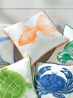 Size Goldfish Sea Creature Pillows By Linensource In