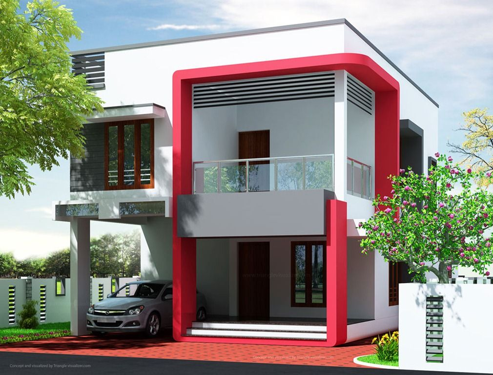 Modern House Plans Erven 500Sq M | Simple Modern Home Design In