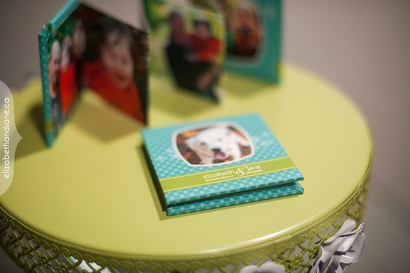 Mini book of Ottawa family photography with their dog photographed by Liz Bradley of elizabeth&jane photography