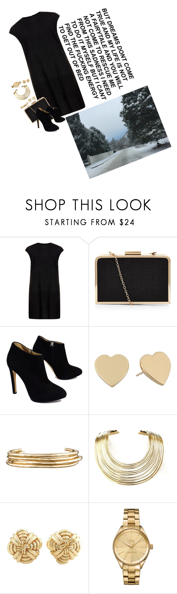 """""""I want my dreams to rescue me"""" by gina-dillon ❤ liked on Polyvore featuring MuuBaa, Giuseppe Zanotti, Kate Spade, Jennifer Fisher, Bisjoux, Tiffany & Co. and Lacoste"""