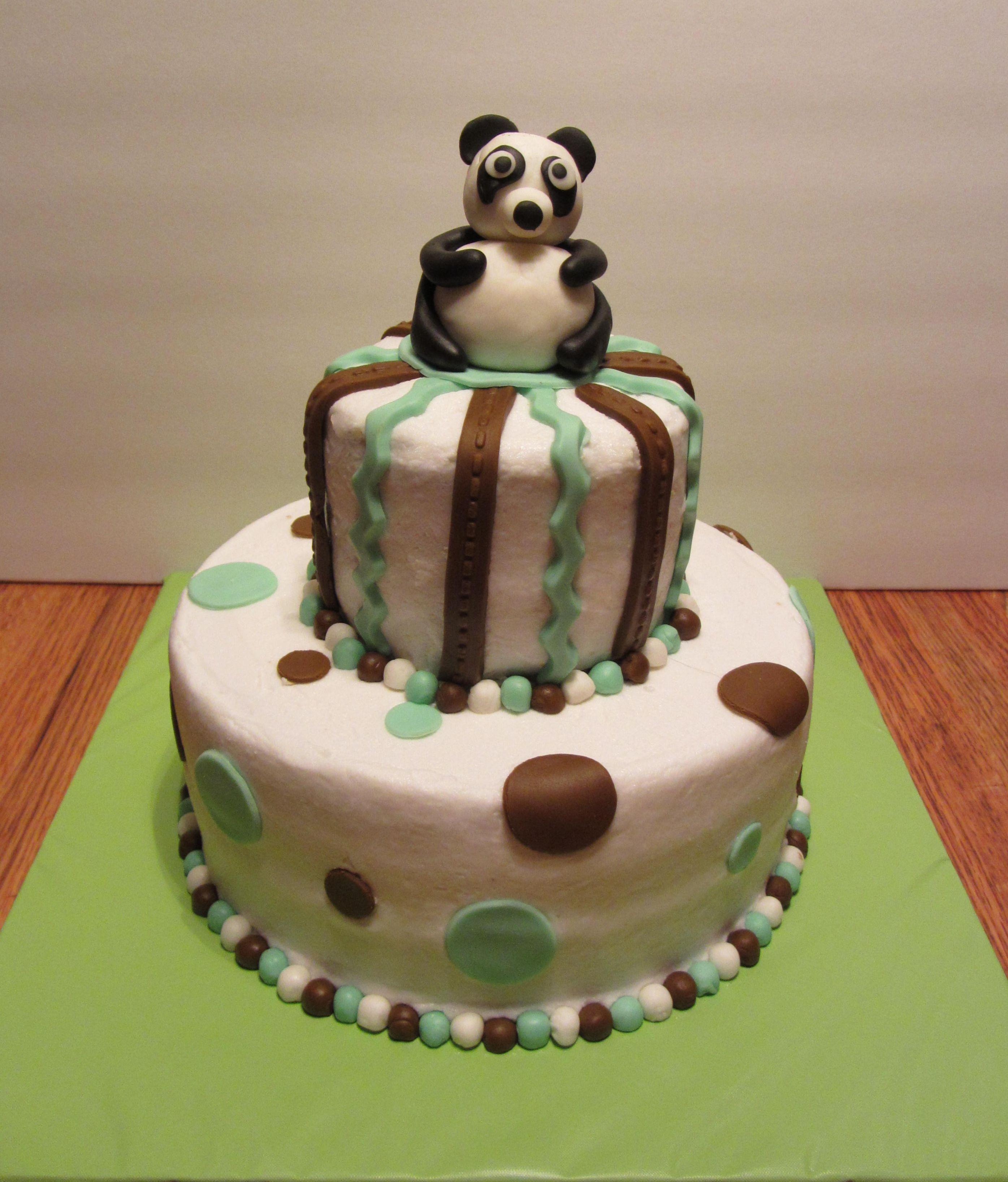 panda baby shower cake ideas and designs