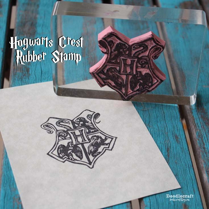Hogwarts Crest Rubber Stamp DIY Its Harry Potter Week Lots Of Fun Wizardy Ideas