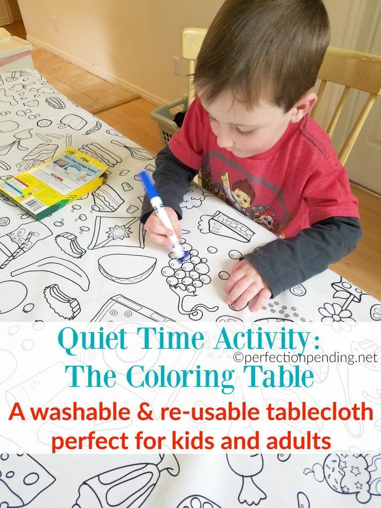 quiet time activity for busy moms the coloring table tables