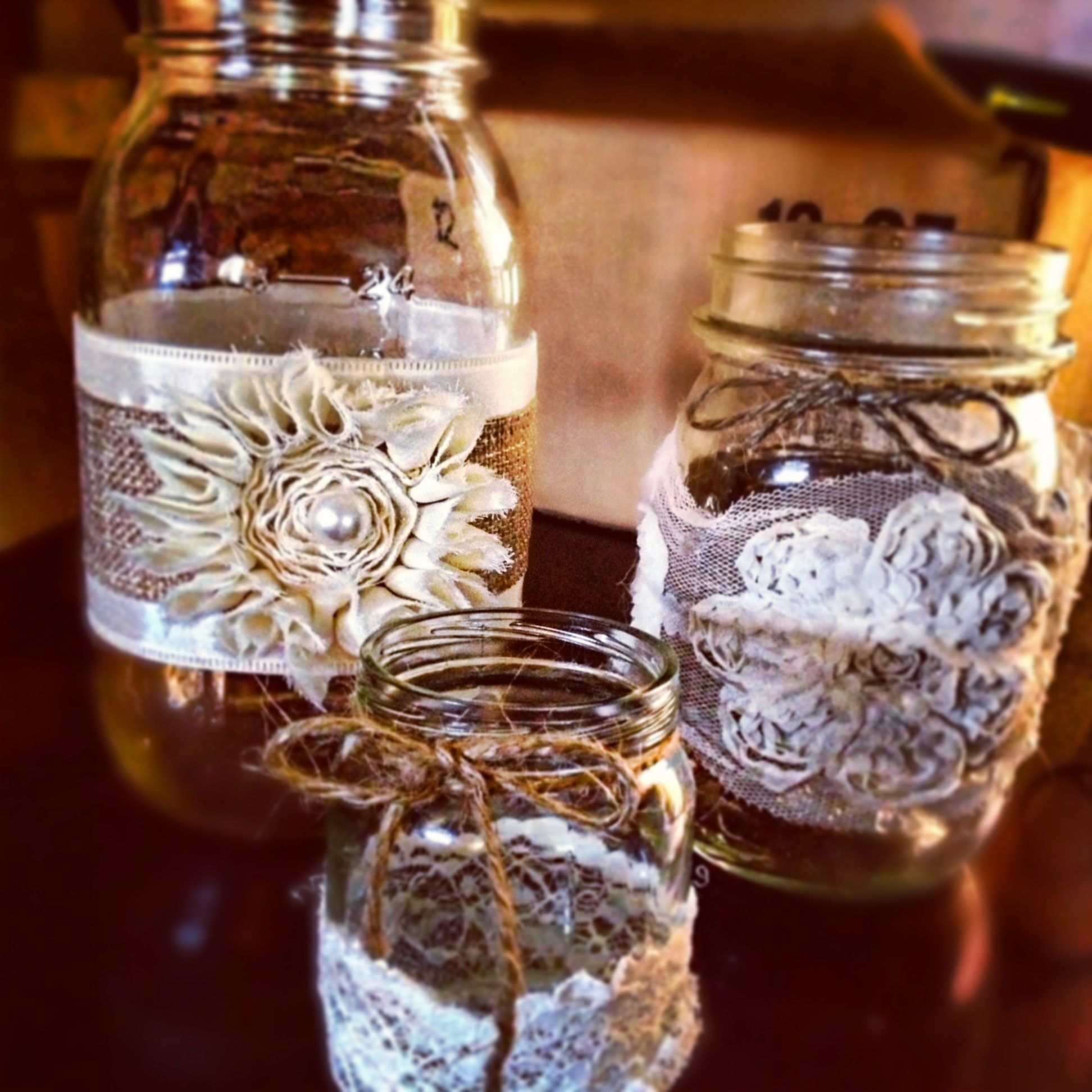 Vintage Wedding Ideas Mason Jars: DIY Rustic Wedding Mason Jars