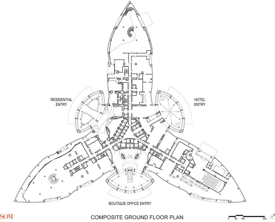 Burj khalifa floor plans dubai a d pinterest burj for Burj khalifa sketch