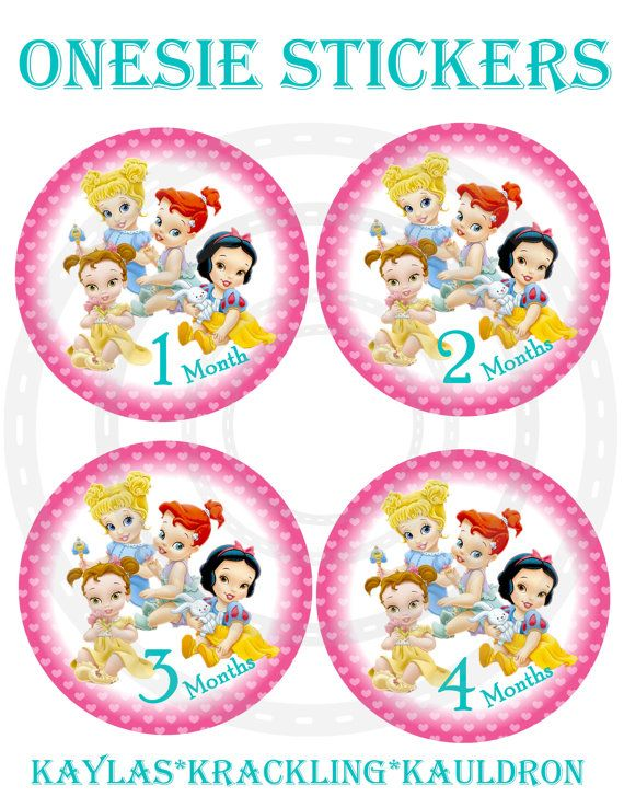 Monthly Baby card disney princess Baby props