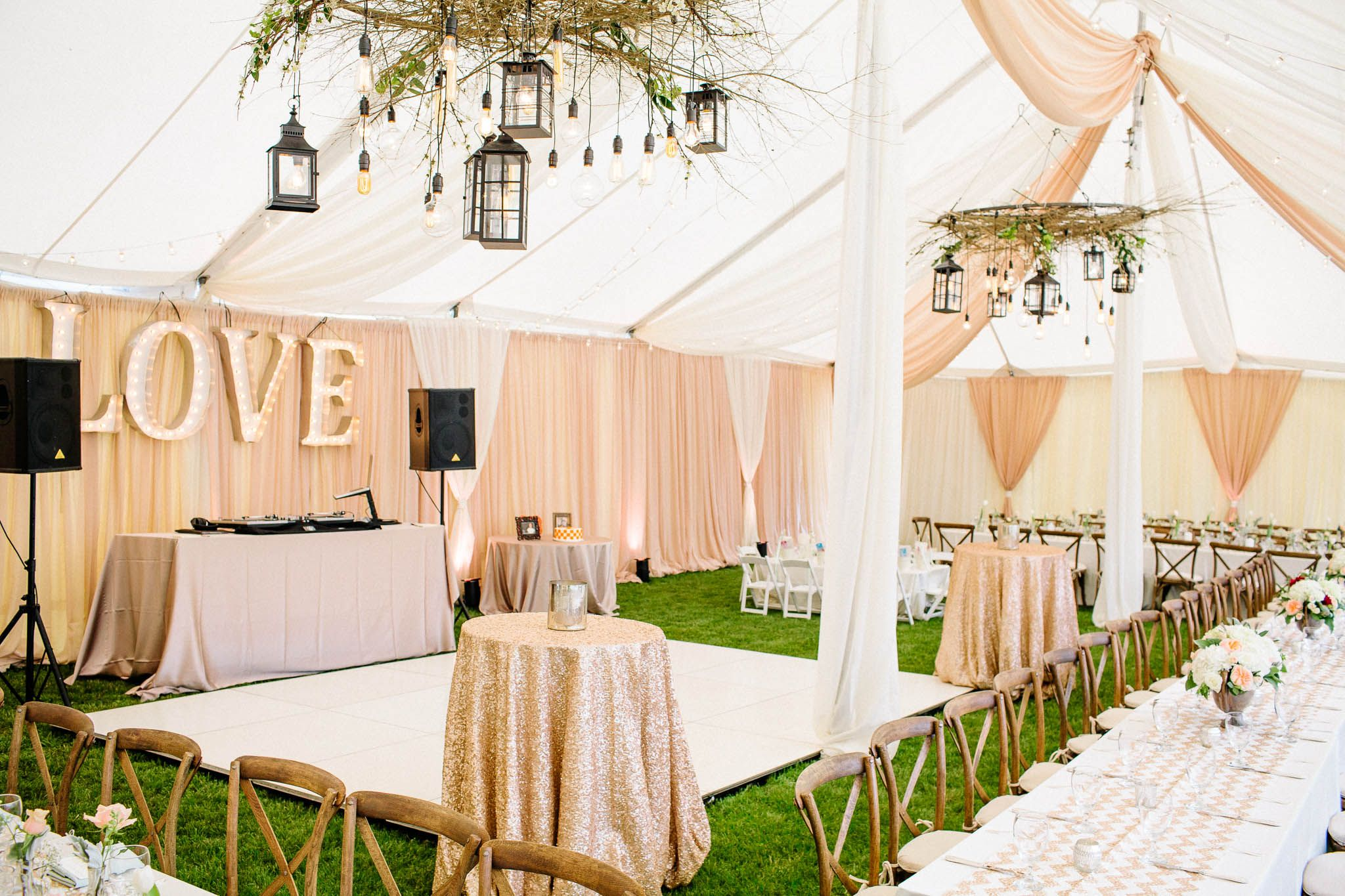 Danielle + Tyler | Glamorous Vintage Backyard Wedding ...