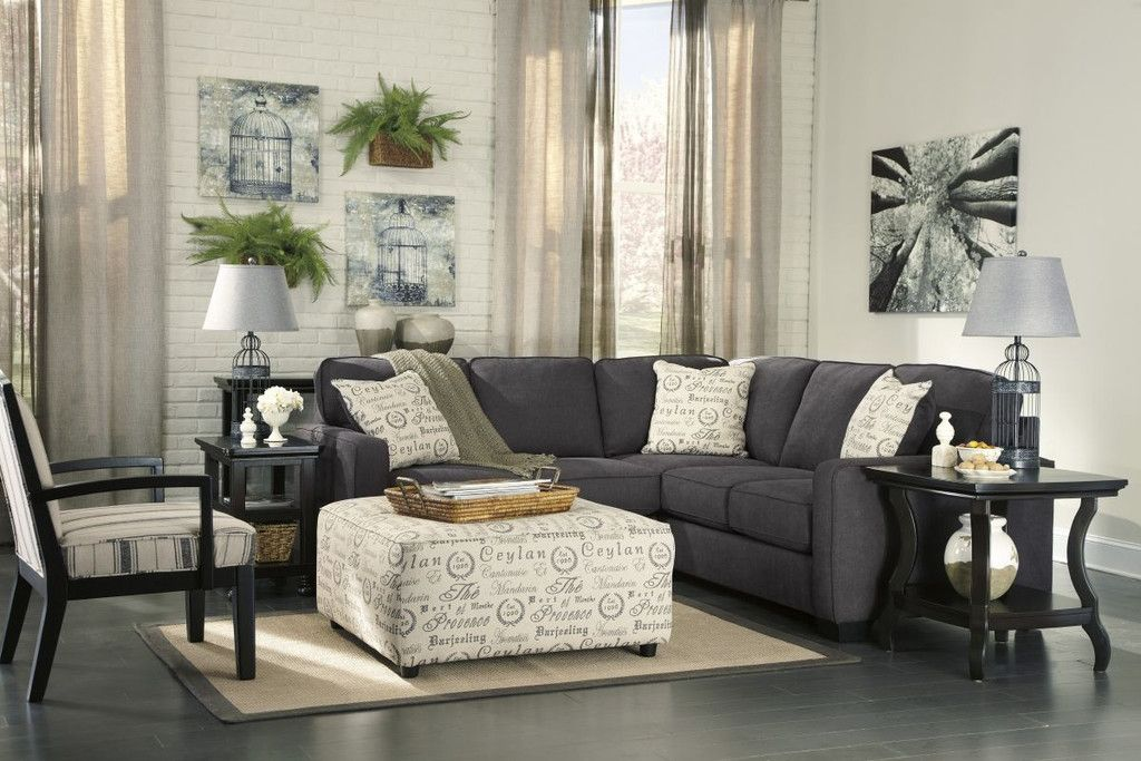 alenya charcoal sectional with ottoman living room charcoal sectional charcoal sofa alenya. Black Bedroom Furniture Sets. Home Design Ideas