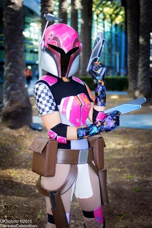 Sabine Wren Cosplay. Star Wars Celebration Anaheim 2015. (Photo by OKS Photo) #StarWarsRebels #SabineWren #SabineCosplay #cosplay #mandalorian #SWCA