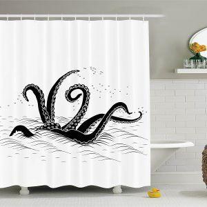 Vintage Squid Shower Curtain