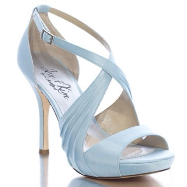 518eb6dd750 Light Blue Wedding Shoes perfect with Aunt Muca s dress (depending on heel  height). Love these for the bride.