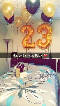 Birthday surprise for him Pinteres