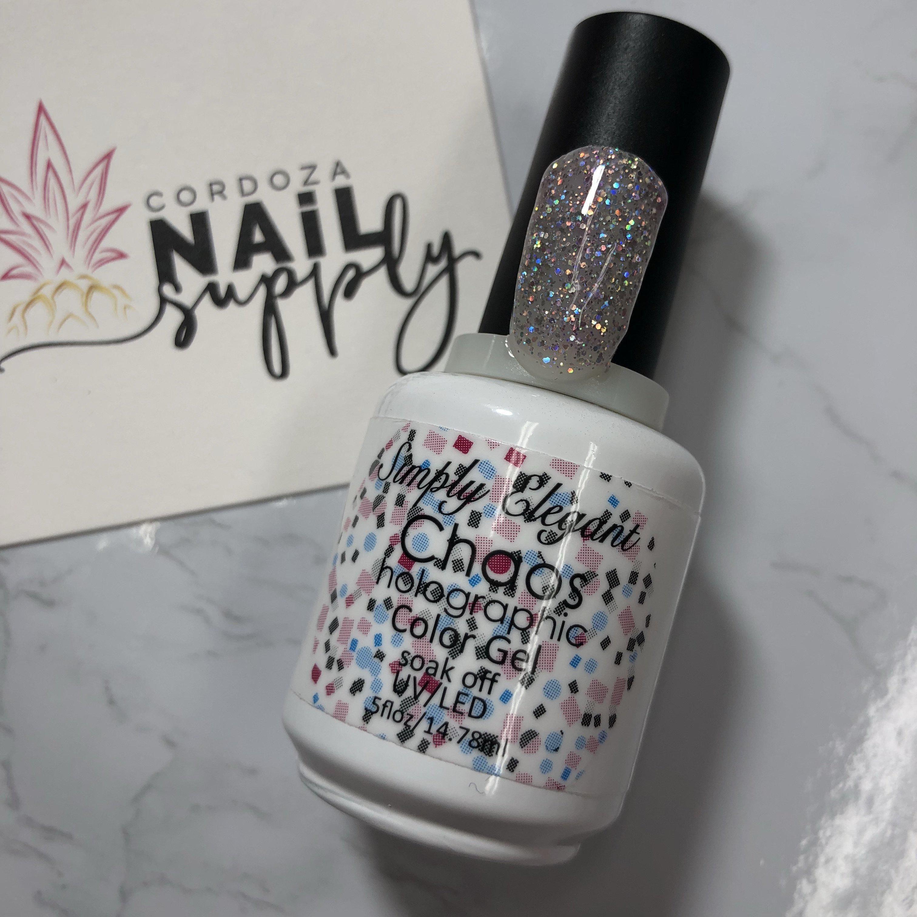 Chaos Gel Polish-Elegant Glass Nails-Cordoza Nail Supply   Gel ...