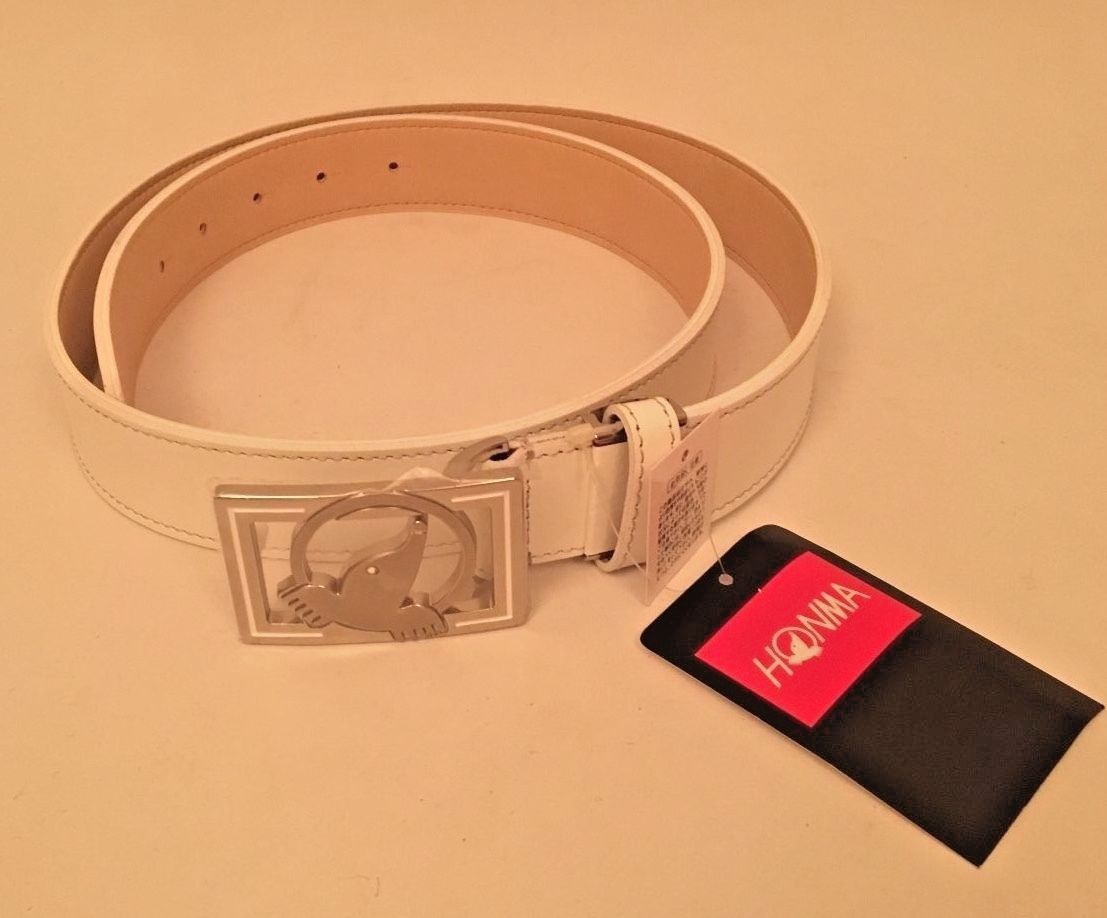 f0f456ea86 Other Mens Golf Clothing 181141  Honma Golf Belt - Brand New - Made In  Japan (Leather