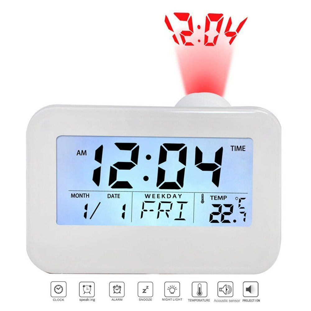Sundlight projection alarm clock korean style digital lcd voice sundlight projection alarm clock korean style digital lcd voice talking functionled wallceiling mozeypictures Image collections
