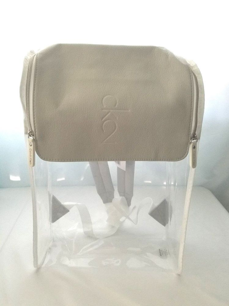 4939686e49a896 Calvin Klein CK2 BAGPACK BAG Rucksack Clear Limited Edition NWT  #CalvinKlein #Backpack