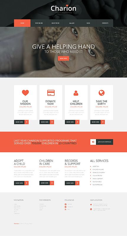 Tender Heart charity WordPress Themes | Charity WordPress Themes ...