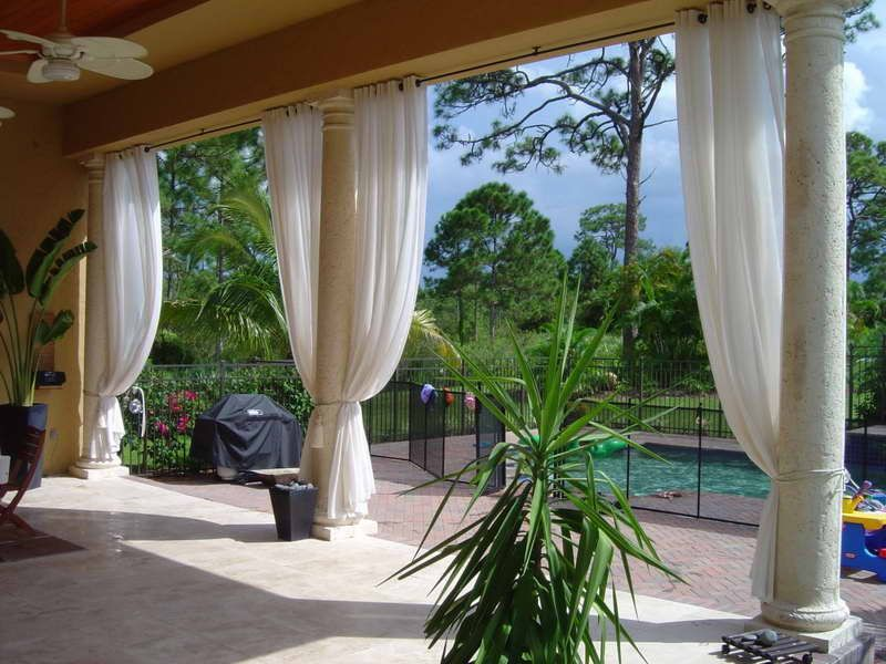 No Sew Drop Cloth Patio Curtains. Our back patio faces west and even though  it's