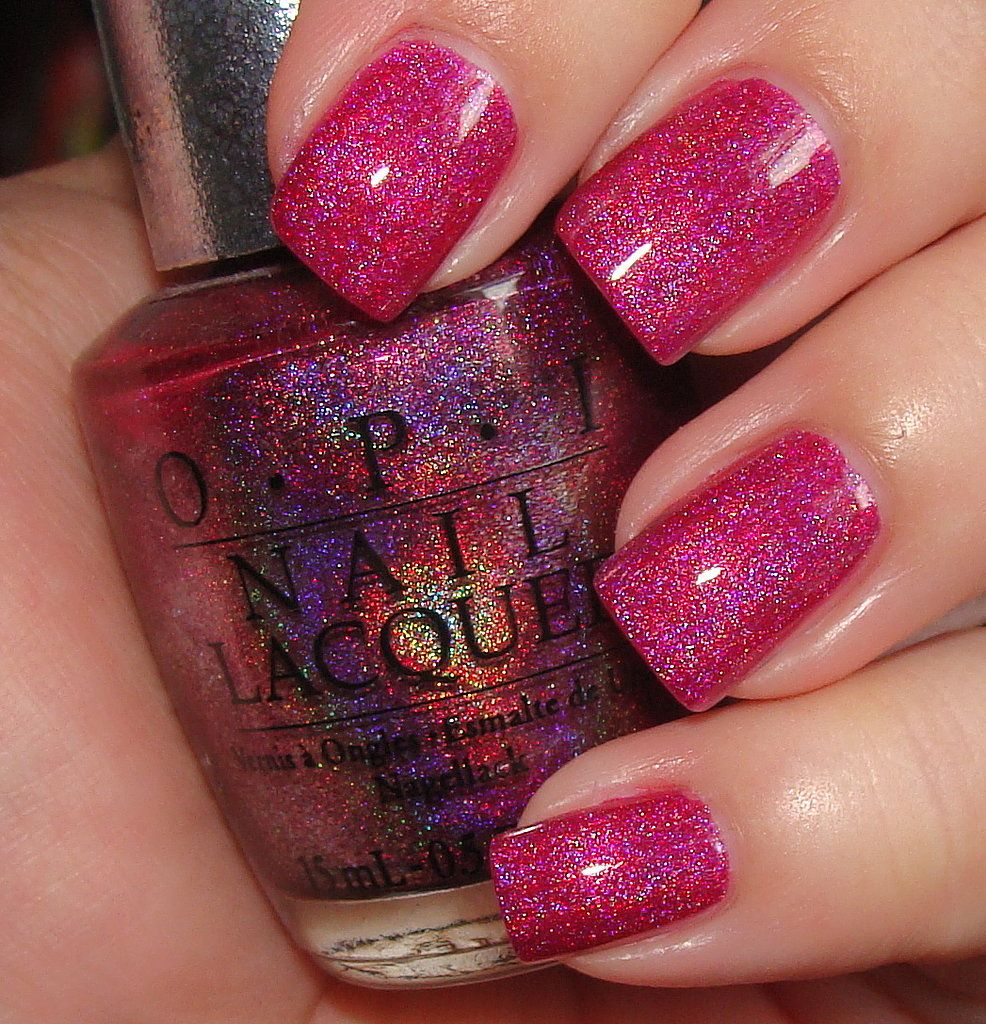 DS Exclusive is a highly holographic polish with a magenta base ...