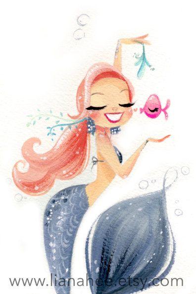 Trending Items Di Roberta Su Etsy Drawing Mermaids Arte