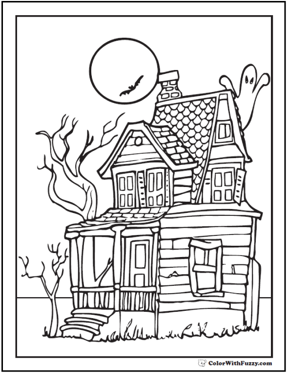 72+ Halloween Printable Coloring Pages Customizable PDF