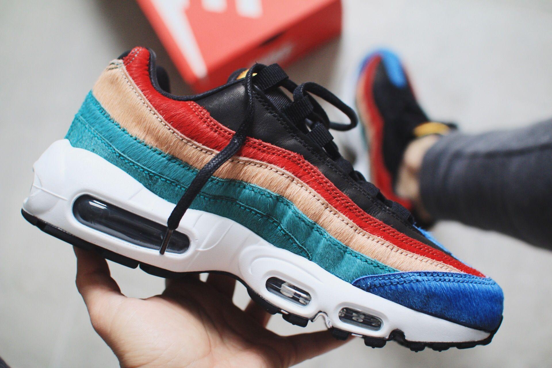 rainbow madness #nike #ponyfur #95er | Sneaker for girls