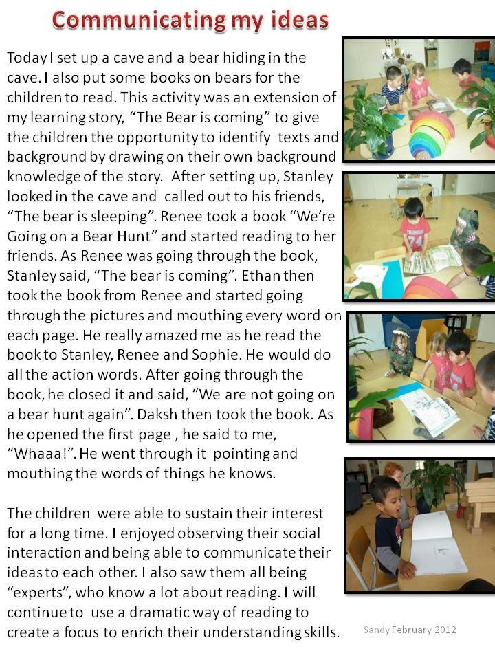 learning story observation childcare examples pdf
