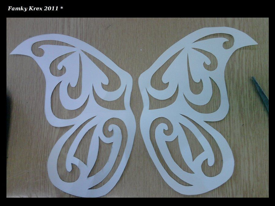 Template For Butterfly Wings By Famkykrex On Deviantart  Craft