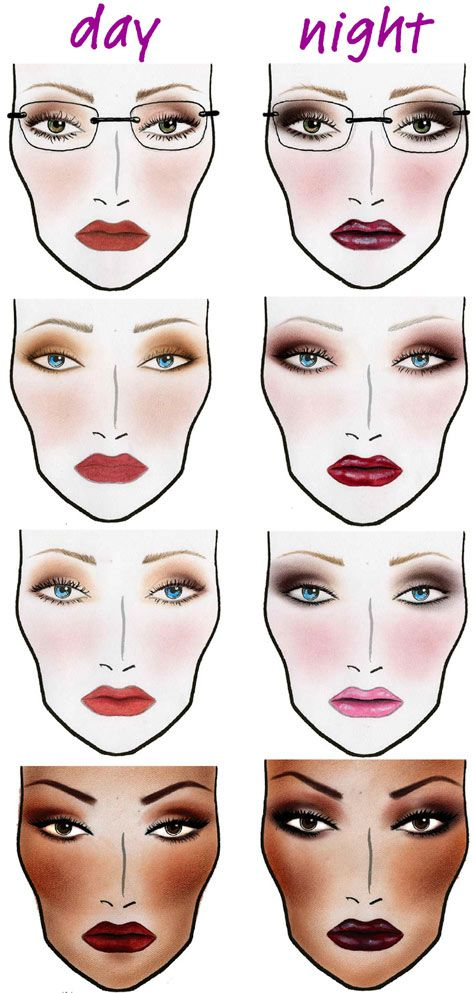 Learn How To Apply Makeup In 6 Lessons Guided By A Professional Makeup Artist At Noha Takla S Wellness And Esthe Makeup Face Charts Night Makeup Daytime Makeup