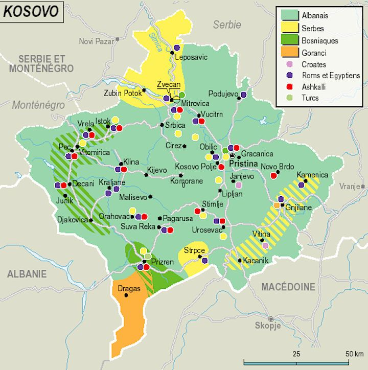 Kosovo Map Ethnic Groups Kosovo Pinterest