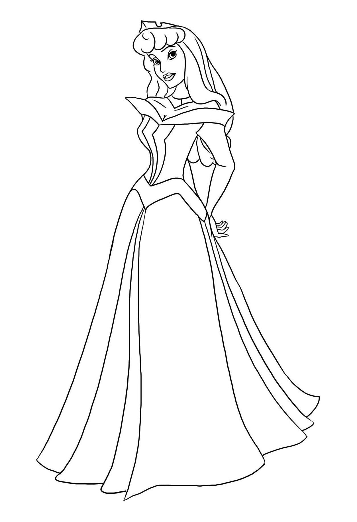 Coloriage princesse colorier dessin imprimer animaux princess coloring pages disney - Dessin de disney facile ...