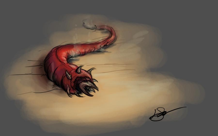 mongolian death worm by lornemilee