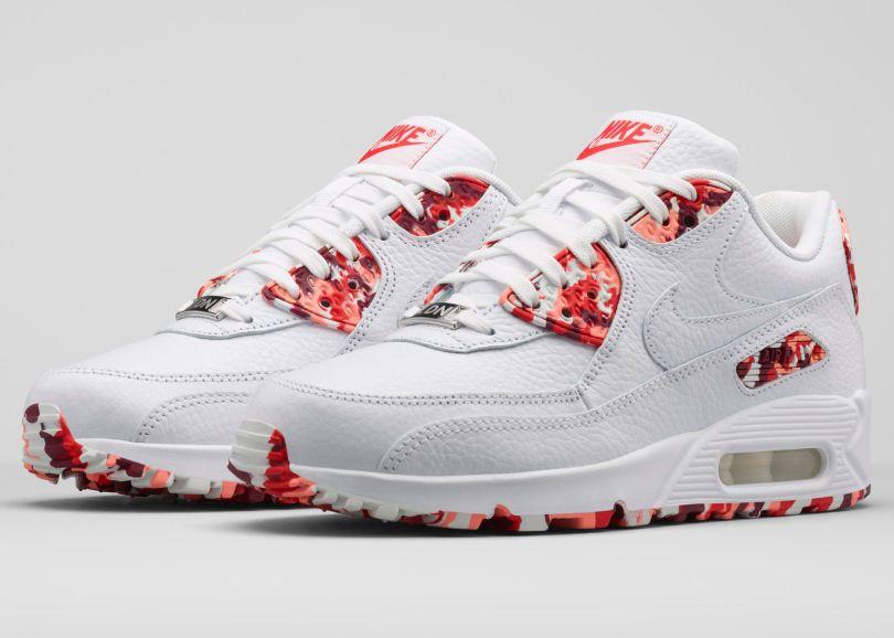 Nike Wmns Air Max 90 Mess Londres Eton Pieds Nus