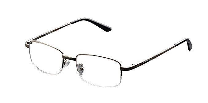 3a6cdaa3184 De Ding Metal Half Rim Bifocal Reading Glasses Review