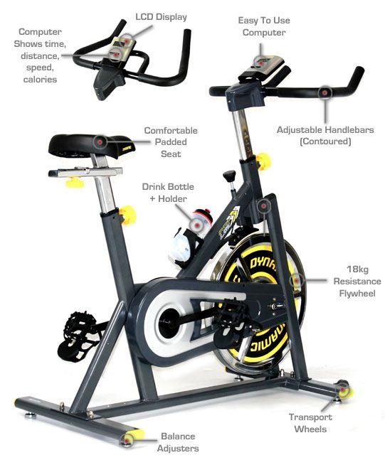 Cardio Fitness Equipment Spin Bikes Ignite Dynamic Lg2
