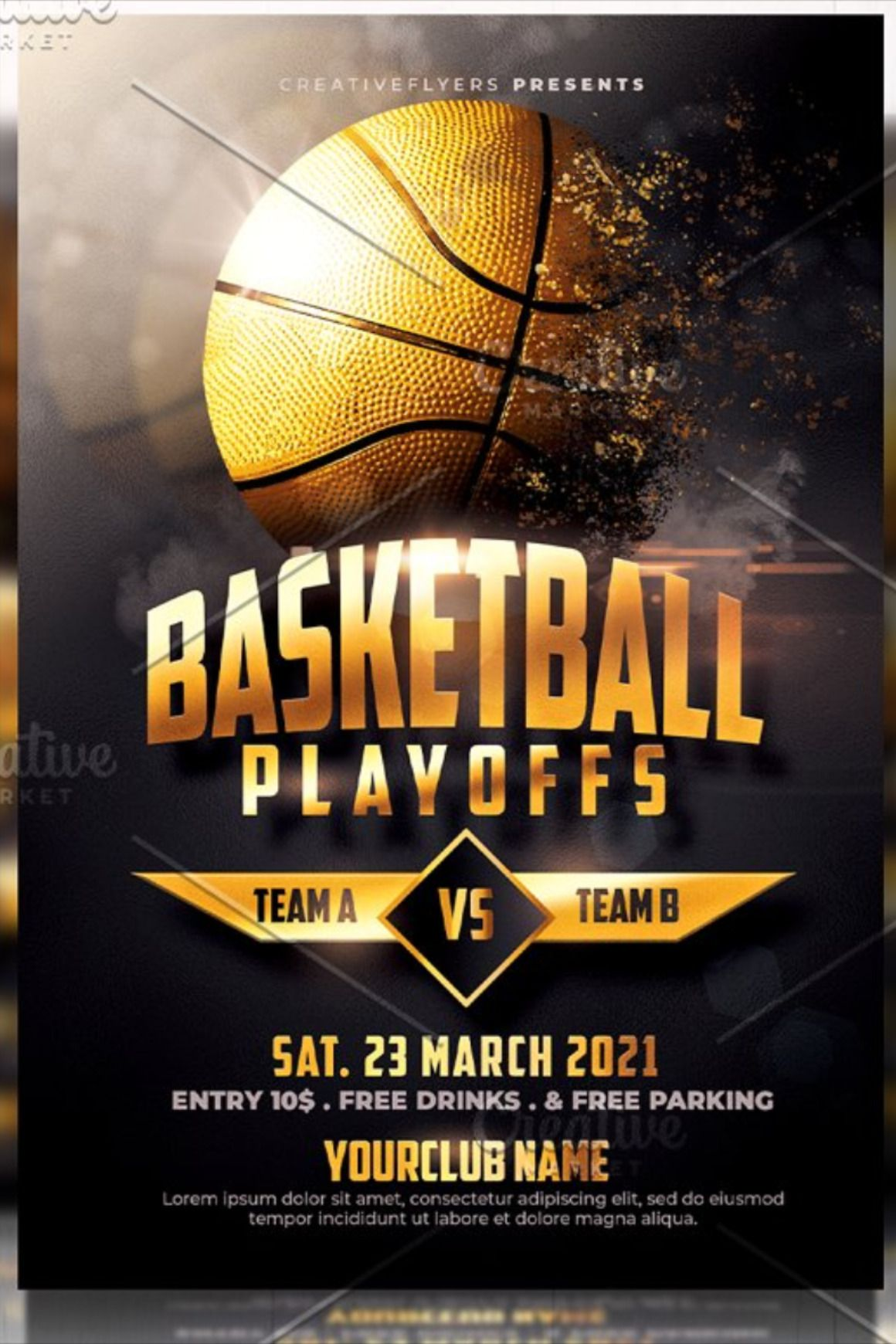 Basketball Flyer Template Playoffs Flyer Template Photoshop Flyer Template Flyer