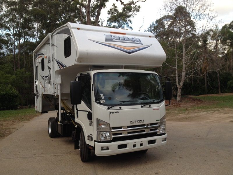 Isuzu Npr 400 Testing By Lance Campers Australia Lance Campers Australia Are In The Testing Phase For The Fitting Of Our Lance Slide In Camper Rv Road Design