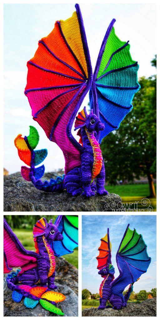 Amigurumi Dragon Free Pattern – Free Amigurumi Crochet #crochetanimals