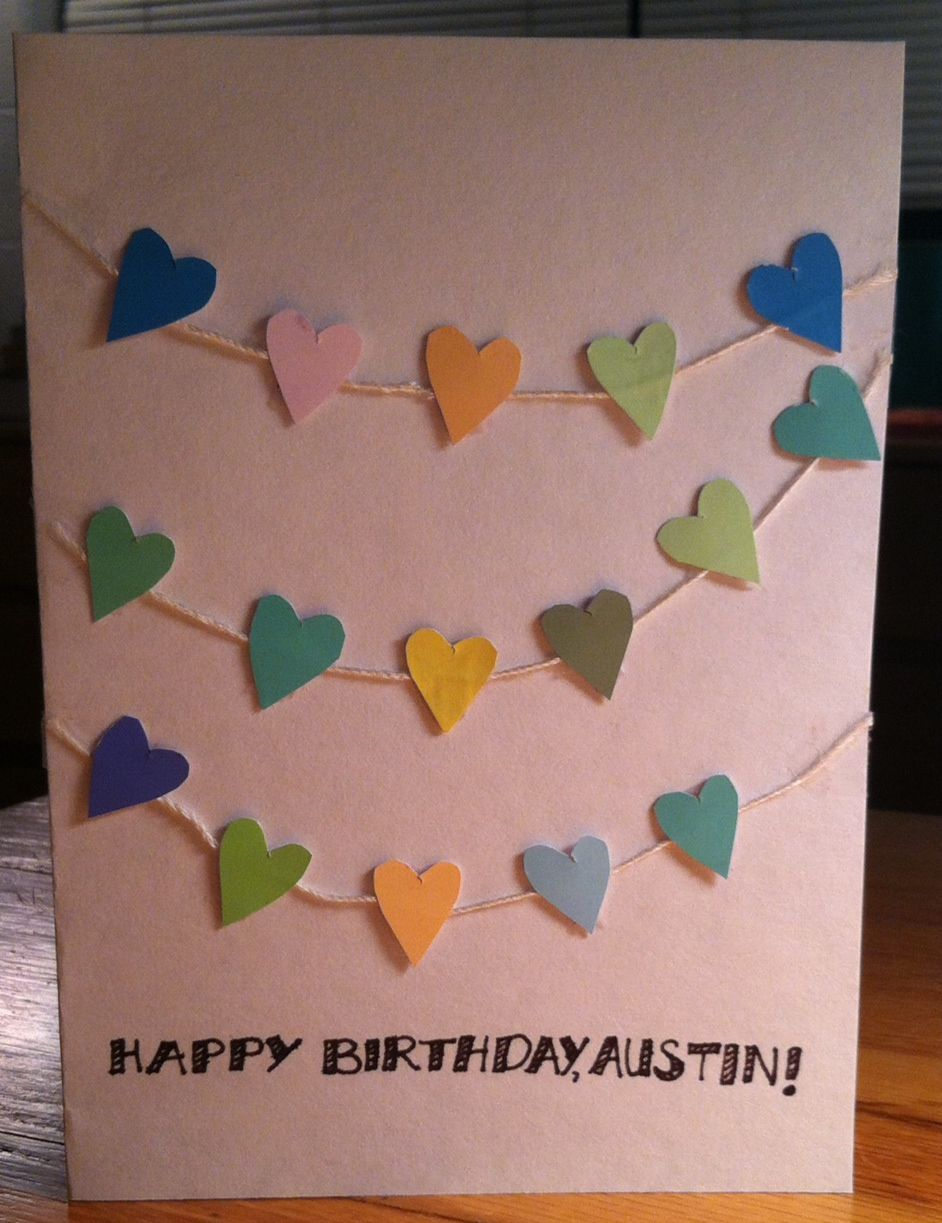 Homemade Birthday Card Greeting Cards Pinterest Homemade