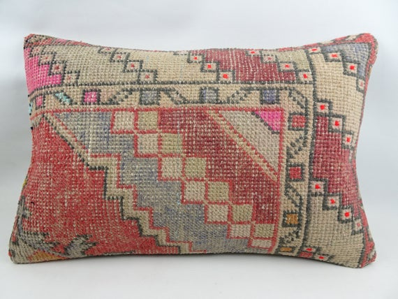 Wool Pillow,60 x 40cm pillow,Decorative Pillow Handmade Rug Pillow Cover,24/'/'x 16/'/'Inches Vintage Rug Pillow Rug Pillow Turkish Pillow