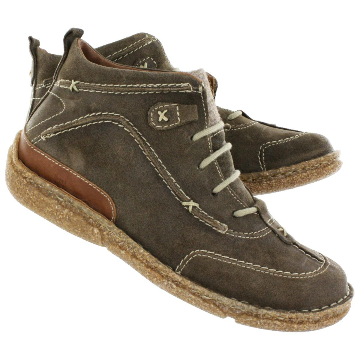 josef seibel s taupe casual lace up ankle