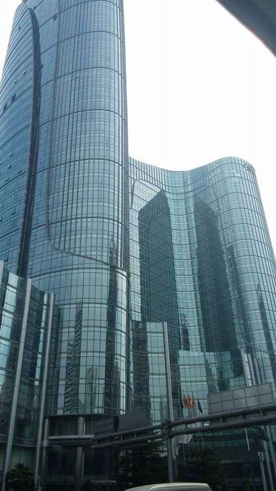 Our wonderful journey continues....(Day 13) in Zhongshan, #China. One of our favorite buildings..... #ajustcoworldtour