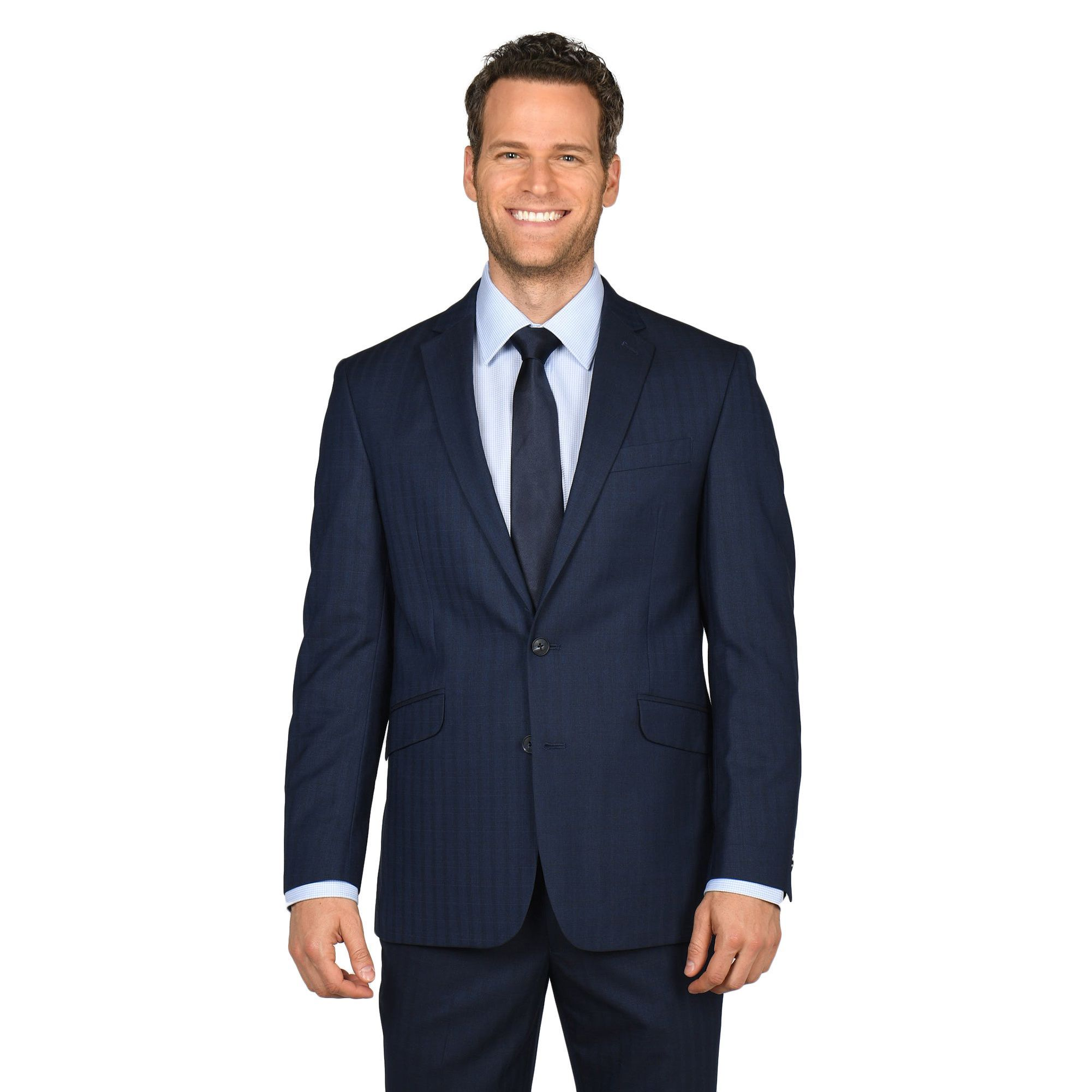 Kenneth Cole Reaction Men's Modern Windowpane Suit Separates Coat